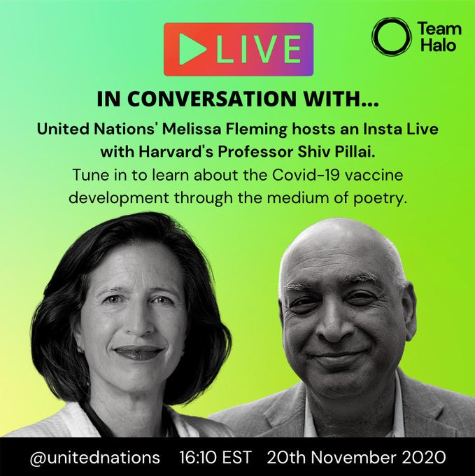 """Everyone should have hope.  There is going to be a #COVID19 vaccine that protects us.""  -- @Harvard Professor Shiv Pillai tells @MelissaFleming.  Watch their full @Instagram Live conversation about vaccine development & combatting misinformation here:"