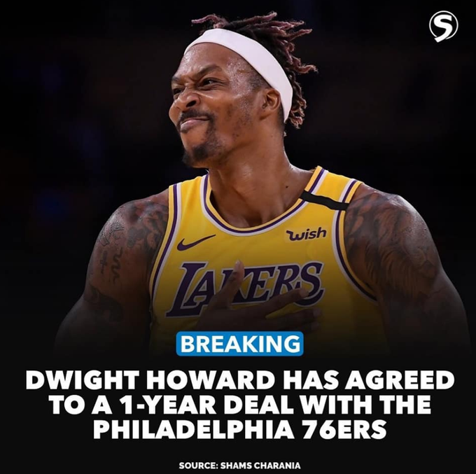 一波三折!Howard一年260萬簽約76人,此前還在Twitter宣佈留守湖人,之後刪除動態!-黑特籃球-NBA新聞影音圖片分享社區