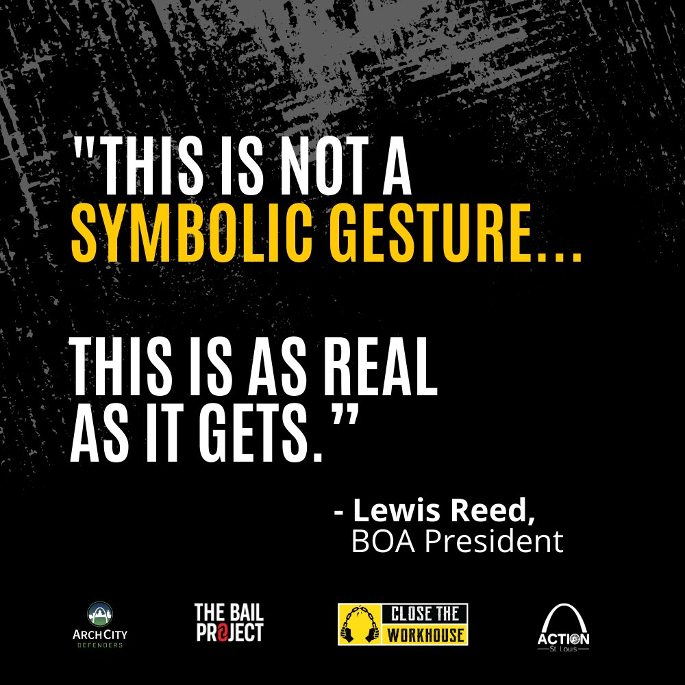 Remember when @PresReed said this? It is Lewis Reed's responsibility to make sure the Board Of Aldermen honor the promise they made during that 28-0 UNANIMOUS vote to close the Workhouse.  Help hold him accountable by calling 3146224144 and demanding the Workhouse be closed.