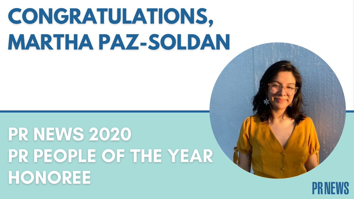 Congratulations @marthapazsoldan. And congratulations @UFPRDepartment for guiding CJC PR students to this prestigious award three years in a row.