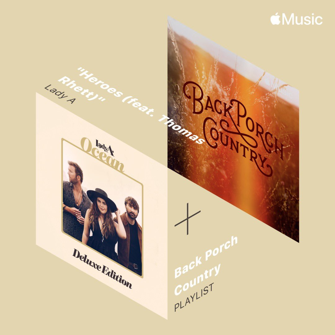 "Appreciate all the love on ""Heroes"" with @ThomasRhett! Thanks @AppleMusic for featuring it on your #BackPorchCountry playlist."