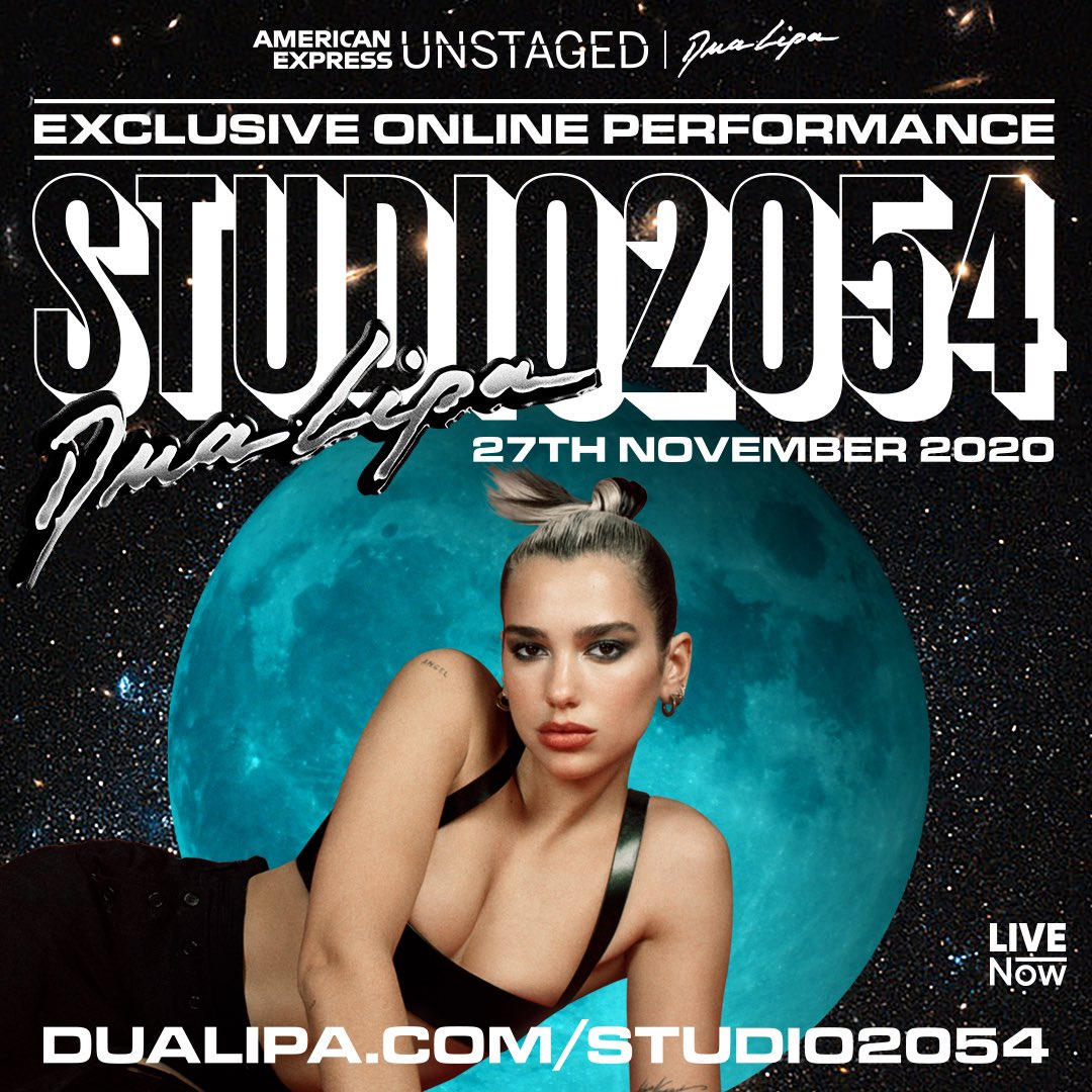 We're giving away VIP Access to @DuaLipa's #Studio2054 show on LIVENow!  To enter: retweet, tag a friend that would love the show, follow @LiveNowGlobal on here and @PopCrave on Instagram.   Two winners announced Tuesday at 17:00 GMT (12pm ET), show starts Friday, November 27.