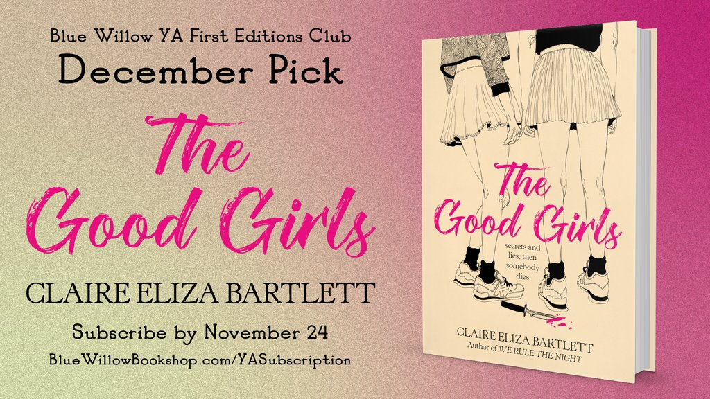 Announcing... the December pick for our YA First Editions Club subscription program! 😍  THE GOOD GIRLS 🔪 by @bartlebett  Our Teen Advisory Board loved this thrilling, suspenseful mystery with feminist themes. You can subscribe now! ⤵️  @harperteen