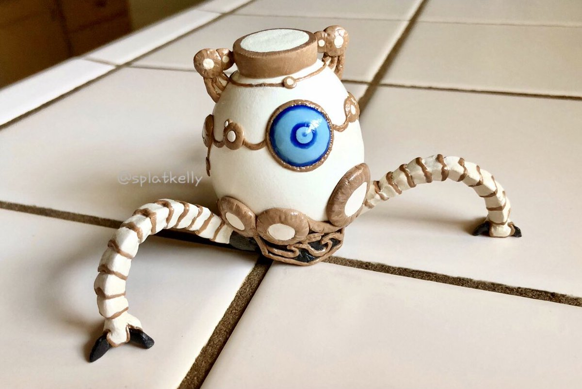 No Stylus Kelly Egg Enthusiast On Twitter Today S The Release Day Of Hyrule Warriors Age Of Calamity I Made An Egg Guardian Using A Real Eggshell And Polymer Clay I Can T Wait