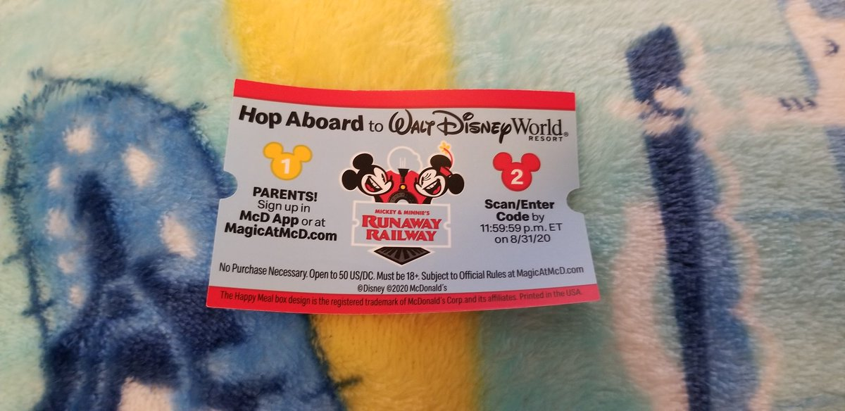 Plus You Can Enter For A Chance To Win A Trip To Walt Disney World In Florida! How Cool Is That! #McDonalds #HappyMeal   #MickeyAndMinniesRunawayRailway  #MouseRulesApply #MickeyMouseShorts   #WaltDisneyWorld #DisneysHollywoodStudios  #MickeyMouse  #D23 #AtHomeWithD23   #Disney