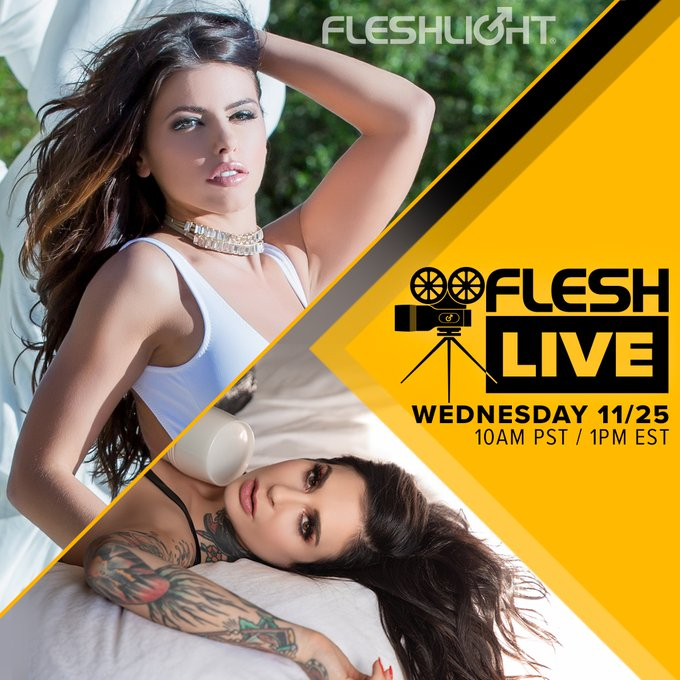 Come hang out on next week's FleshLive with your favorite host and Fleshlight Girl, the incredibly talented