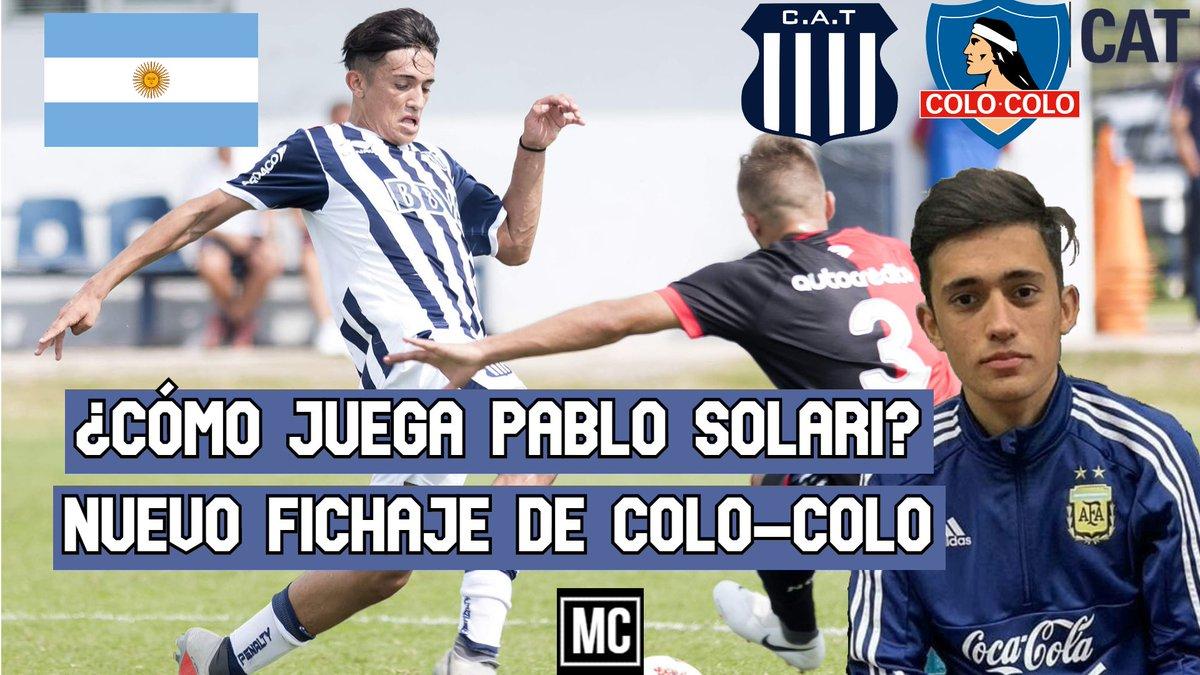 Tenemos vídeo! Pablo Solari (🇦🇷|2001) Para sorpresa de muchos, @pablosolari_ fue anunciado hoy en Colo-Colo Rápidamente en el canal nos pusimos a trabajar para traerles este nuevo vídeo Extremo, aunque también podemos verlo como segundo delantero  https://t.co/JN2rzR4Pbd https://t.co/xlNCU1hyBx