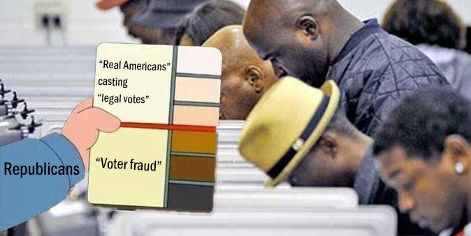 "@BernieSanders ""Voter fraud"" means something very different to #BananaRepublicans"