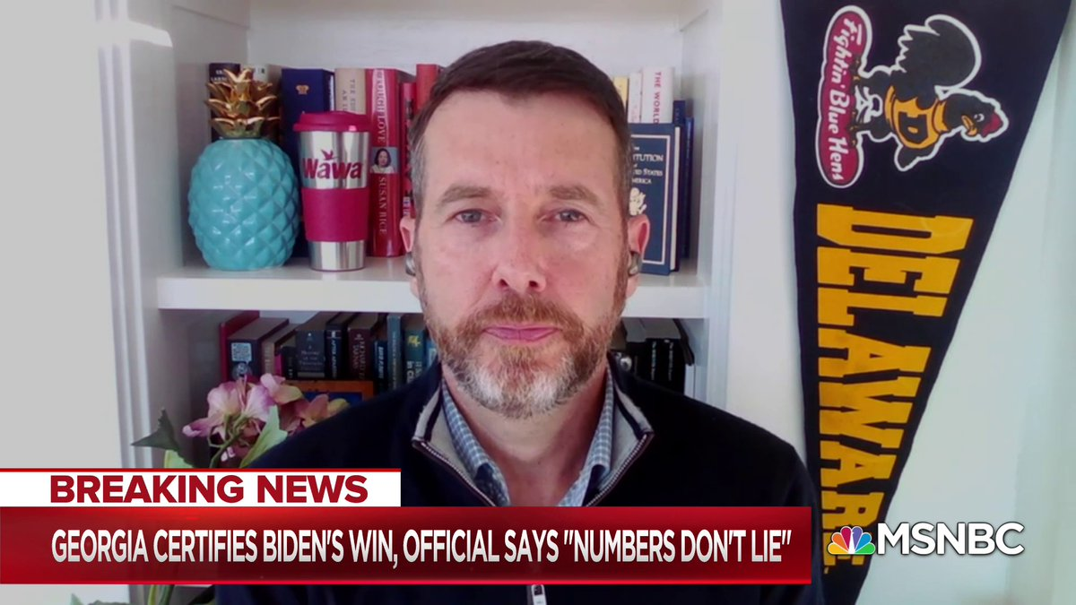 Its infuriating that were even having to talk about certification deadlines in a race that wasnt that close... Doesnt mean that Trump wont continue to try and raise money in the biggest grift in American history, that will continue - @davidplouffe w/ @NicolleDWallace