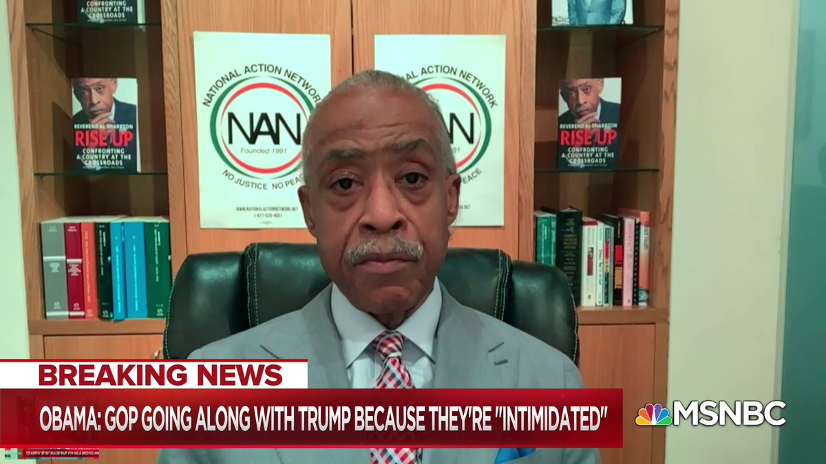 You cant bring cowardice out of people that are not cowardly and what weve began to see is that a lot of these Republican leaders must have been cowards all along and all they needed was a bully to come out to expose it - @TheRevAl w/ @NicolleDWallace