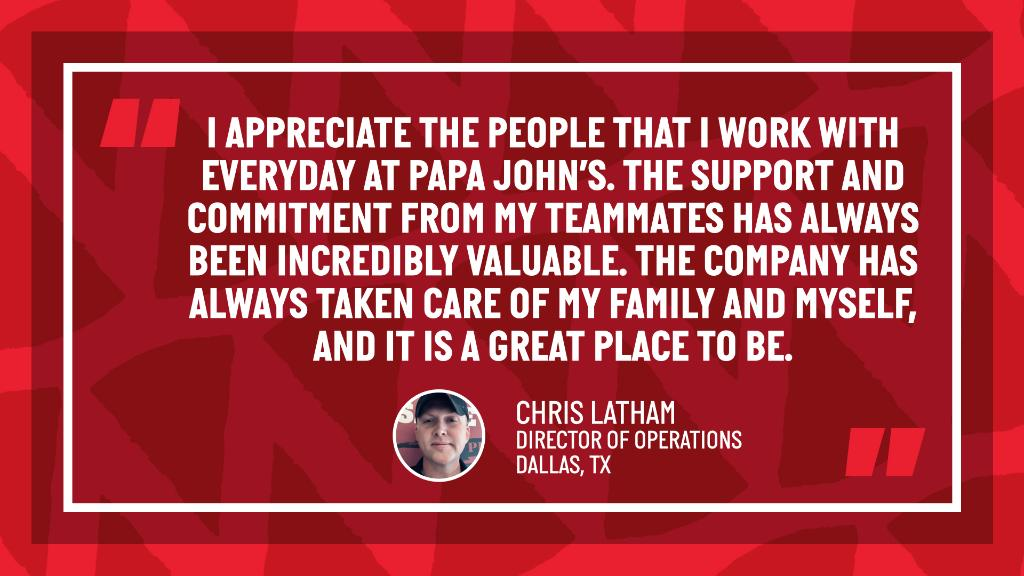 We appreciate you Chris! Thanks for being part of the Papa team! #PapaProfiles #VeteransMonth https://t.co/kO6iie3lpA