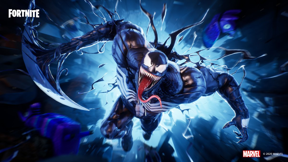Bond with the symbiote... We are Venom. Grab Venom in the Item Shop now!