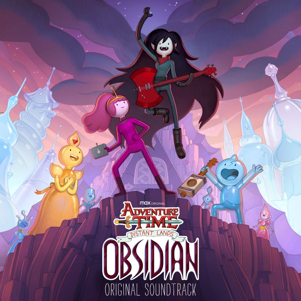 Vibe out to the newest soundtrack from #AdventureTimeDistantLands #Obsidian 🎸🎶 Get the album today and automatically get access to the Deluxe Soundtrack in December! Tag #ObsidianCover to show us your amazing fan covers 🎶 👉 lnk.to/ATObsidian!CN