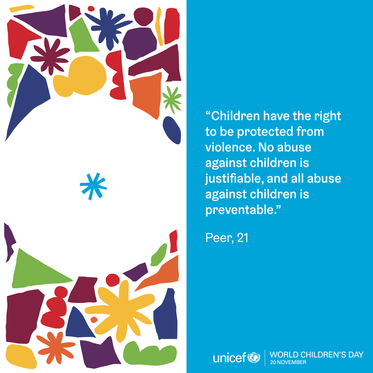 .#ForEveryChild, a better and safer world.  On #WorldChildrensDay and every day, let's listen more and learn more from children and young people.