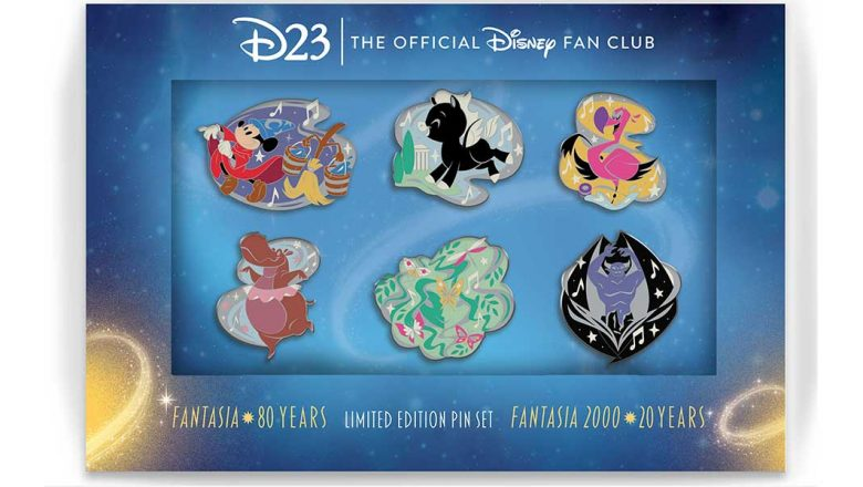 ON SALE NOW: D23 Gold Members, celebrate the 80th anniversary of Fantasia and the 20th anniversary of Fantasia/2000 with anexclusive pin set celebrating both films: