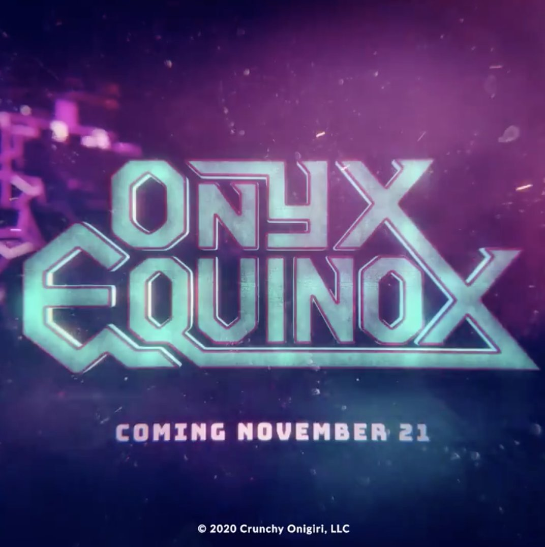 FOUR HOURS LEFT! Watch the world premiere of #OnyxEquinox on @Crunchyroll at 1PM PT!
