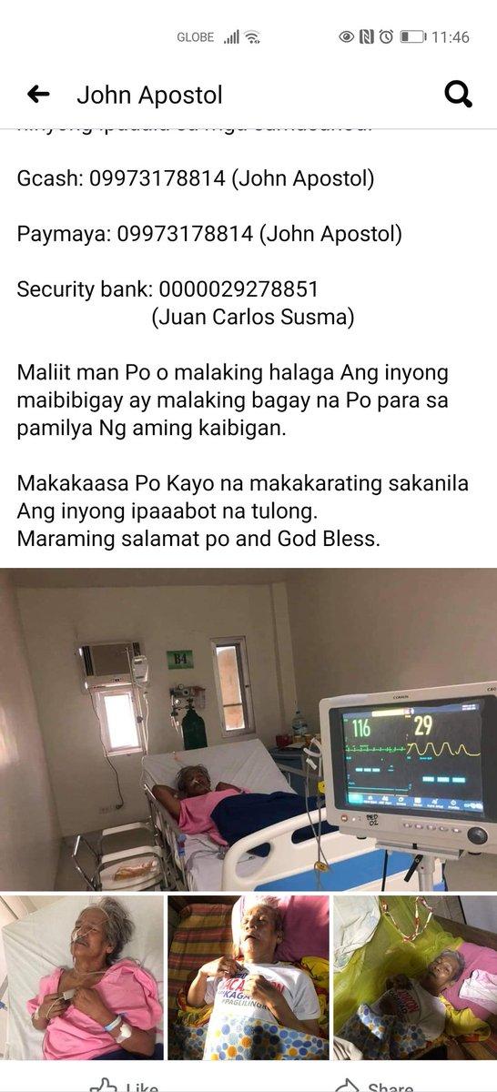 For the stroke father of Jaymar Hermosa (Diffun, Quirino)
