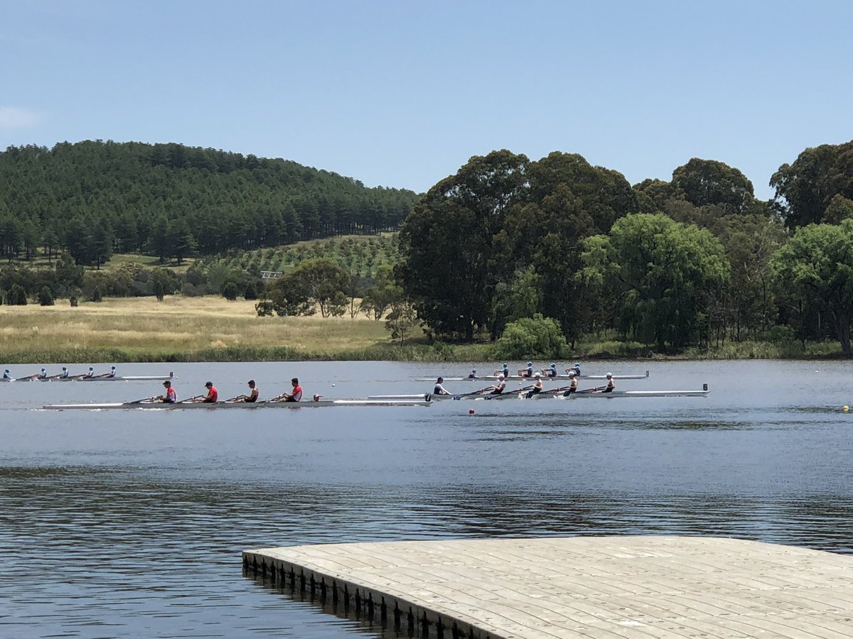 A spectacular day on the lake and great to see @CanberraGrammar Rowing back on and powering ahead for the new season. Congrats to all crews and coaches. Exciting times ahead.