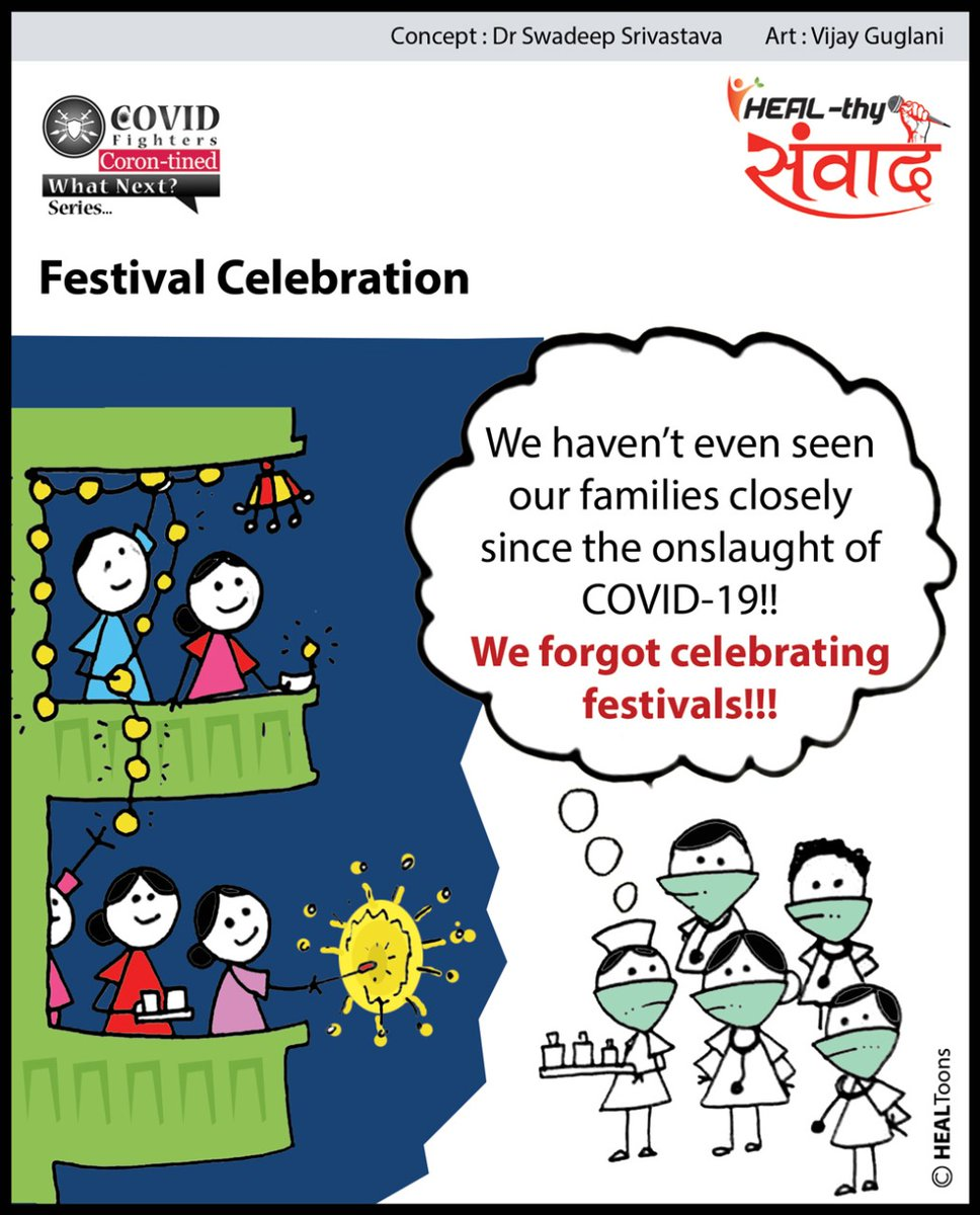 This Diwali has been a two-way traffic. People enjoyed sweets and crackers while the healthcare workers did their duties in hospitals.  Join us:   #covidfighters #healthysamvaad #healhealth #unitetofightcorona @SWADEEP