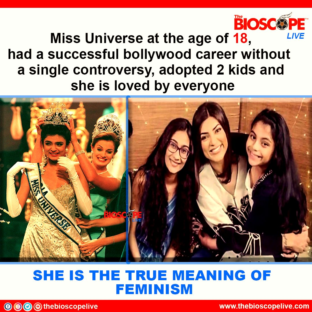 The true meaning of Feminism is Sushmita Sen  @thesushmitasen   #thebioscopelive #Bollywood #SushmitaSen  #renee #daughters #actress #bollywoodactresses  #facts  #FactsMatter  #fact  #MissIndia #Feminism #like4like  #actorslife #bollywoodnews