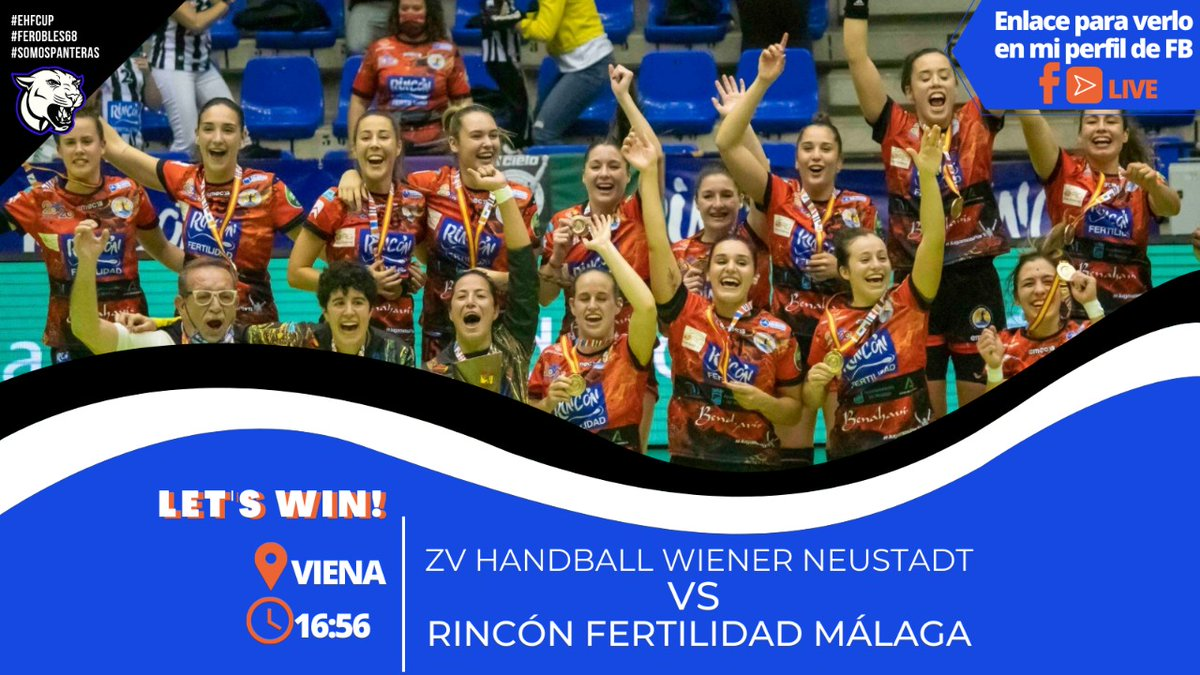 PREPARADAS 💪 fin de semana con dos partidos por delante, disfrutar, sonreír y a luchar🙌!!! Hemos llegado a #Viena LET'S WIN!!  Directo 📺 https://t.co/mmjlUZUH55⌚16:45h  @BMMalagaCosta 🆚 @zvhandball_wn  #ferobles68 #bmfemenino #somospanteras #jugamosporti🖤💫 #EHFCUP https://t.co/Zdb3y8MGp9