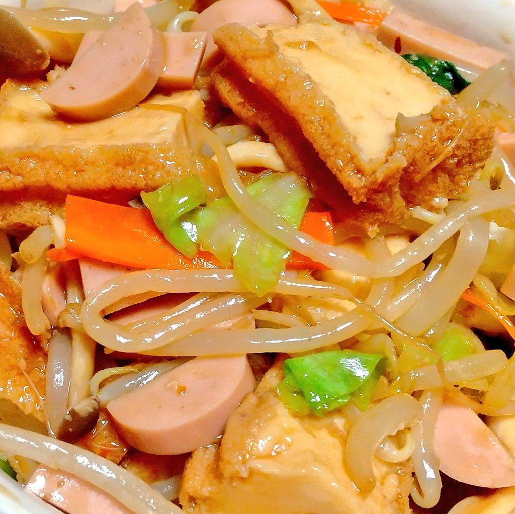 今夜は厚揚げ野菜炒め!簡単にできる家族の大好物。今日も「うまっ」と食べてくれました。我が家の定番です。レシピ公開中!魚肉ソーセージで厚揚げ野菜炒め  #おうちごはん#Twitter家庭料理部 #厚揚げ炒め#厚揚げ