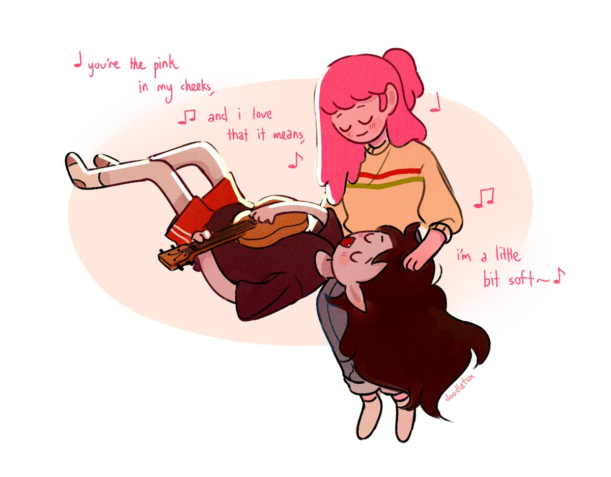 ill write all the sappy songs in the world for you. #bubbline #AdventureTimeObsidian