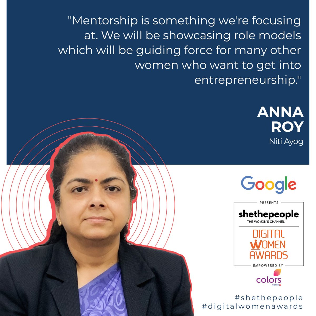@annaroy9 at #DigitalWomenAwards talking about the role of mentorship