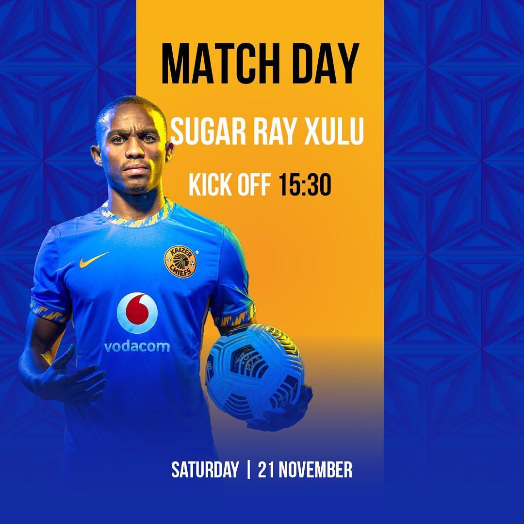 Match Day!  🏆 #DStvPrem ⚽️ Golden Arrows vs. Kaizer Chiefs  👕First Team 🗓️Saturday 21 November 2020 🏟Sugar Ray Xulu Stadium  🕞15h30 📺SS202 📢NO FANS ALLOWED INSIDE OR OUTSIDE THE STADIUM!!!! https://t.co/hKYhiDfRJB