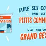 Image for the Tweet beginning: 📍Achetez chez les petits commerçants,