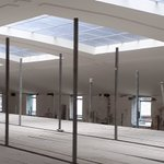 Image for the Tweet beginning: Windows in sports hall looking