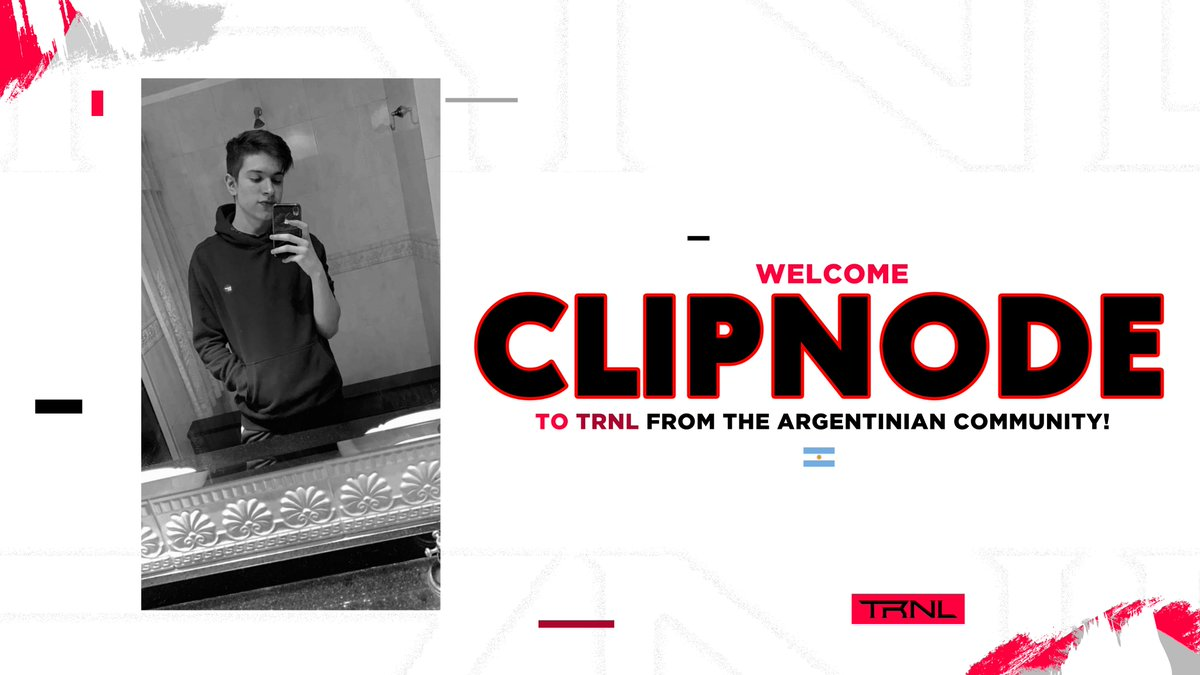 Welcome @TheClipnode to TRNL as a Competitive Player! #TRNLBRA 🇦🇷🇧🇷