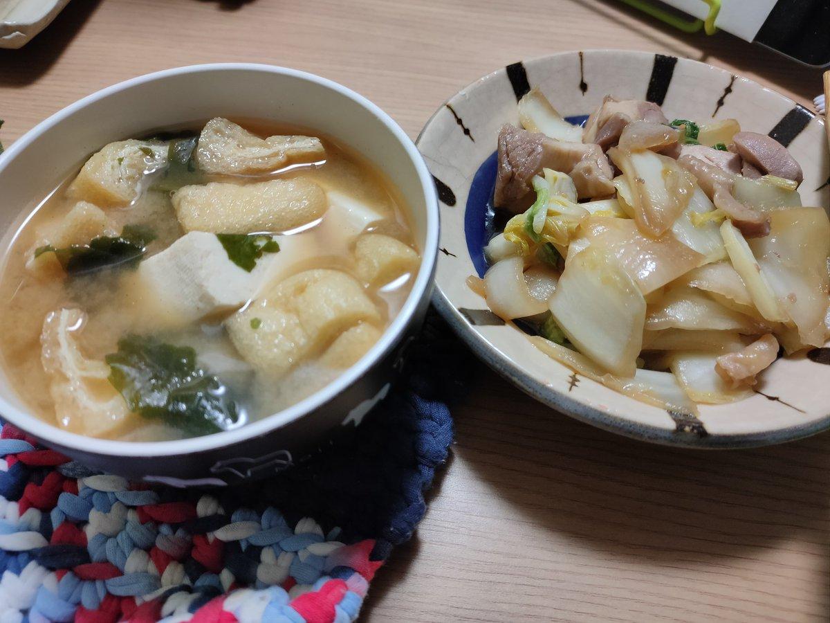 「白菜と鶏もものガリバタ炒め」 くじディナー