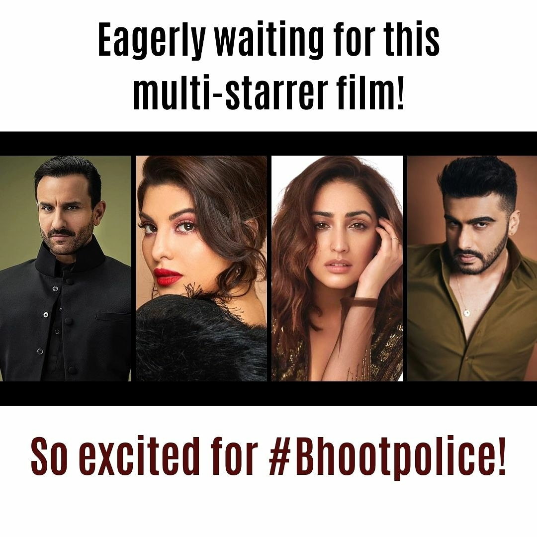 So excited for Bhootpolice 😍❤️👻 @Asli_Jacqueline #jacquelinefernandez #bhootpolice