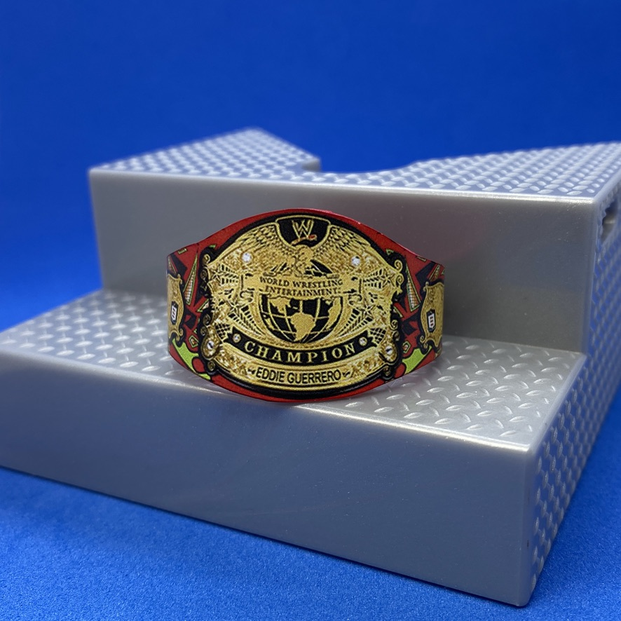 If you've received your #EddieGuerrero Legends figure - this belt is the perfect addition!  https://t.co/1TNag2ZTCZ  (We REALLY need an Eddie...)  #smallbiz #wwe #wweuk #wwenxt #wweraw #smackdown #wwesmackdown #wwethunderdome #custommade https://t.co/RD9FD7DW0i