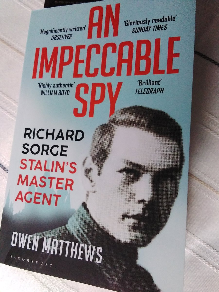Thoroughly recommend this book about a Soviet spy of German origin active in the Far East, principally Japan, before and during World War Two. The fictional James Bond is a pale imitation compared to this superspy. #bondjamesbond