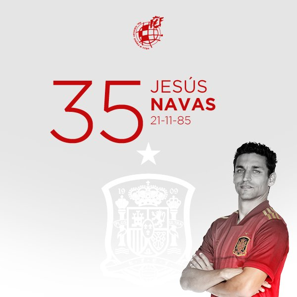 🥳 ¡Feliz cumpleaños, @JNavas! Internacional en 46 ocasiones, nuestro campeón del mundo y de Europa cumple 35 años.  ¡¡¡FELICIDADES!!! 🎂