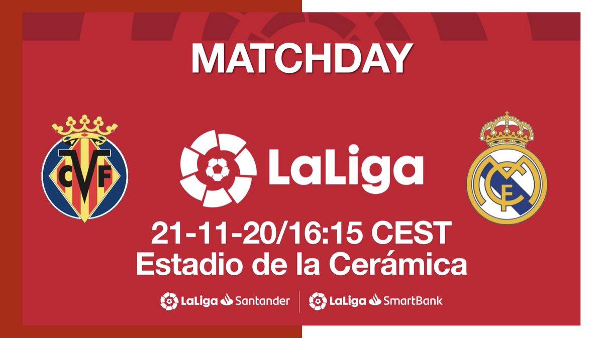 #MatchDay 📆 #VillarrealRealMadrid 😉😉 #LaLiga 🏆🏆 #TV 📺 #beINSPORTS  #Stadium 🏟 #EstadiodelaCeramica  #Referee 👤 #HernandezHernandez  🕔5:15 pm 🇱🇧 🕘 9:15 am 🇺🇸 #RMLiga ❤️❤️ #RealMadrid 👑👑 #madridista 🤩🤩 #realfootball ⚽️⚽️ #HalaMadrid ⚪️⚪️ #HalaMadridYNadaMas 🤍🤍