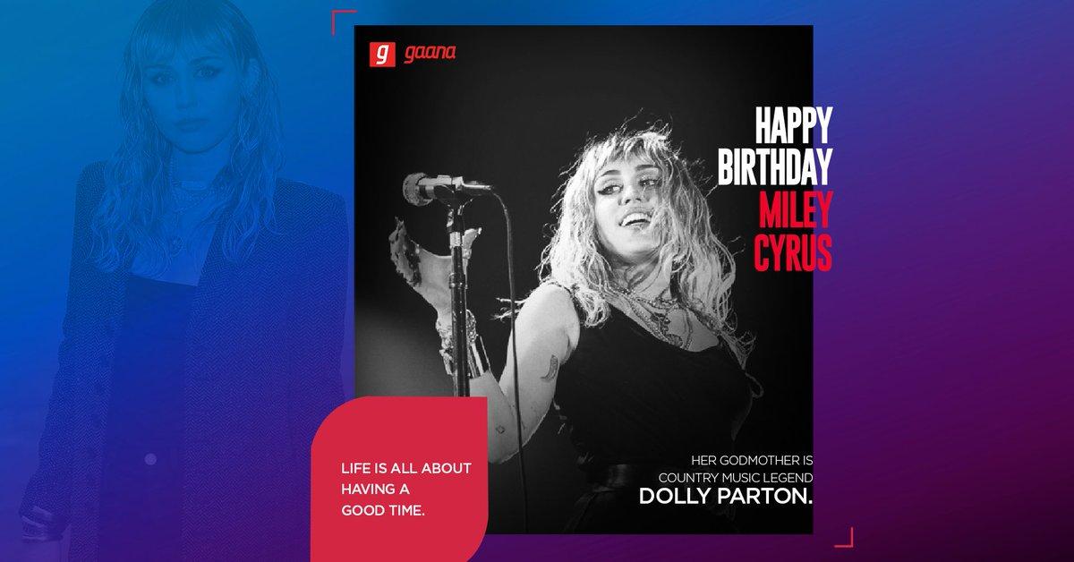 "Happy Birthday to the legend who broke the music scene like a ""Wrecking Ball"".   @MileyCyrus #HappyBirthdayMileyCyrus"