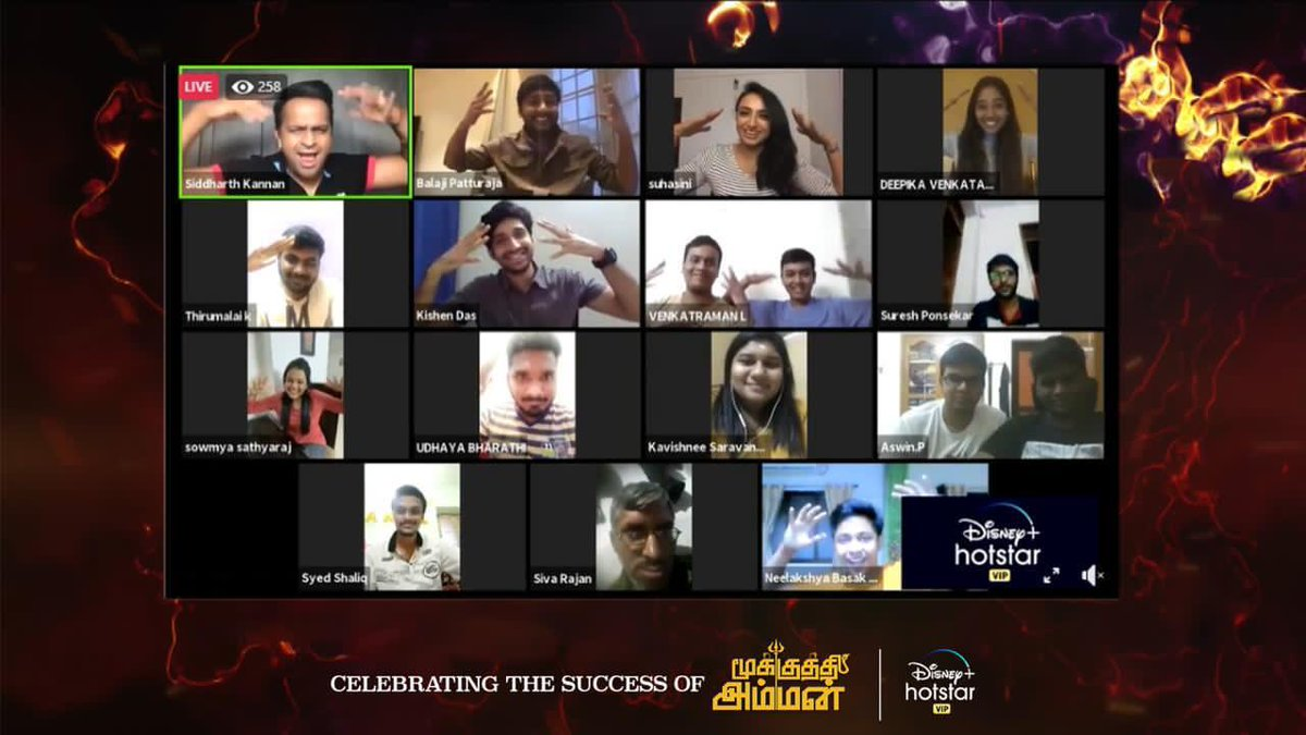 It was super fun hosting the meeting & greet with your fans & for your film #MookuthiAmman @RJ_Balaji! Didn't even realise how 1 hour just flew by! Congratulations to the whole team!!!   #SidK #SiddharthKannan @NayantharaU @DisneyplusHSVIP @ggirishh #nayanthara #rjbalali