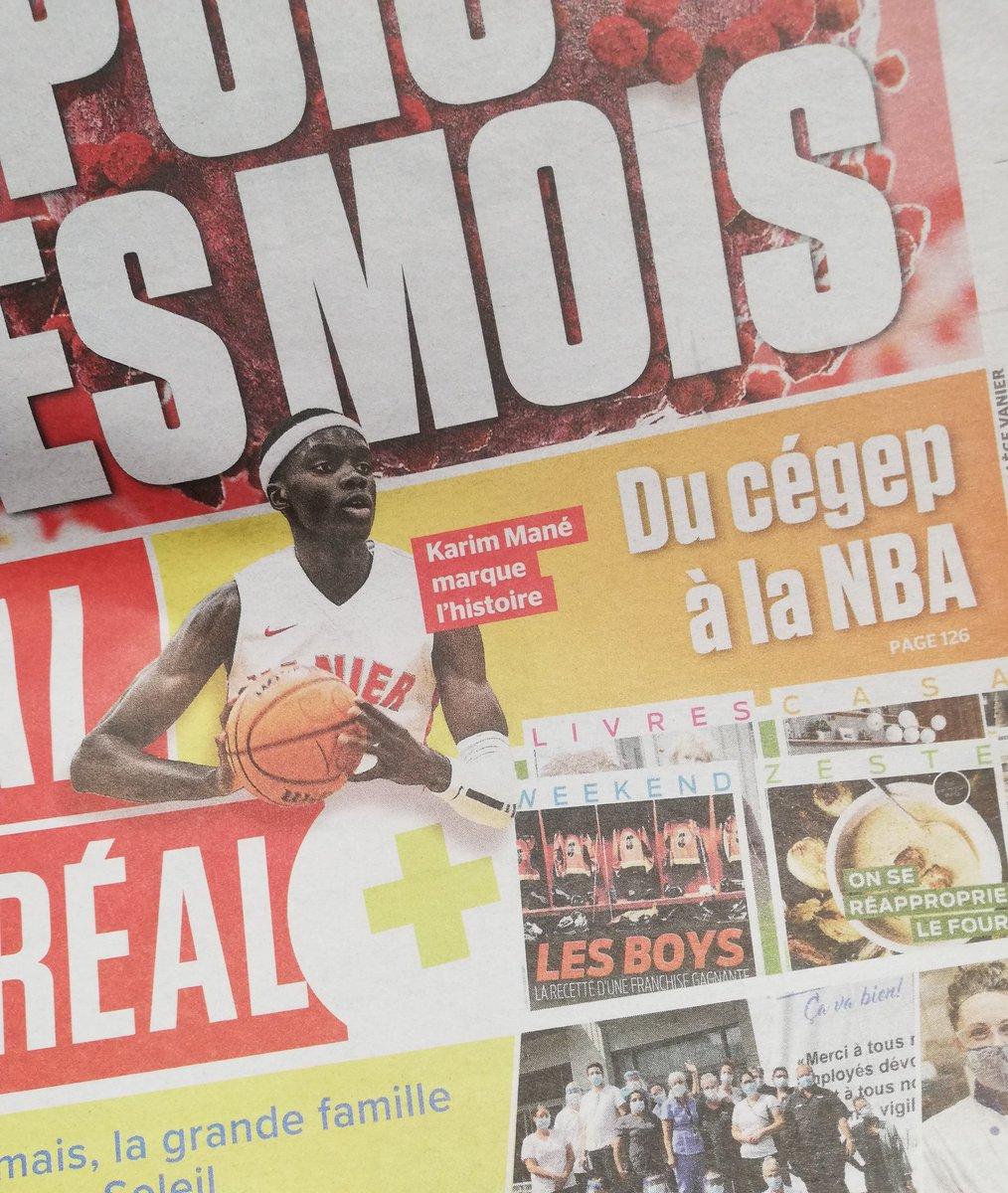 Ah tiens le jeune Karim Mané fait déjà la une des journaux ici💯✨ https://t.co/Phq3ybwEe7