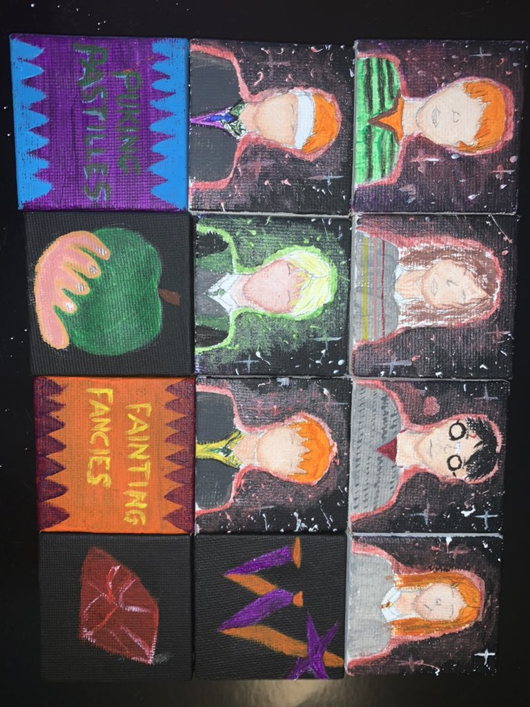 Made some little Harry Potter paintings, hope you all like them! I also hope I am one of the lucky 6 to join you all in the quiz @TomFelton @James_Phelps @OliverPhelps @thisisbwright #Harrypotter #19yearslater