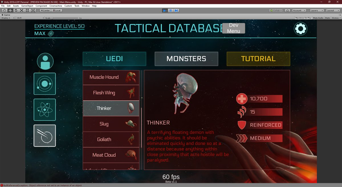 2112TD Monster Tactical Database Overhaul