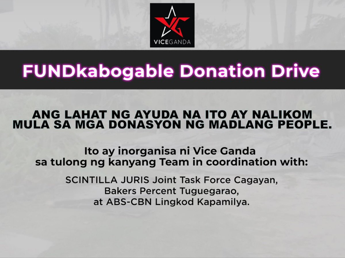 Ang mga donasyon nyo po ay naihatid na sa Bgy Maglalag East and West Enrile Cagayan at Bgy. Goran Amulung West Cagayan.