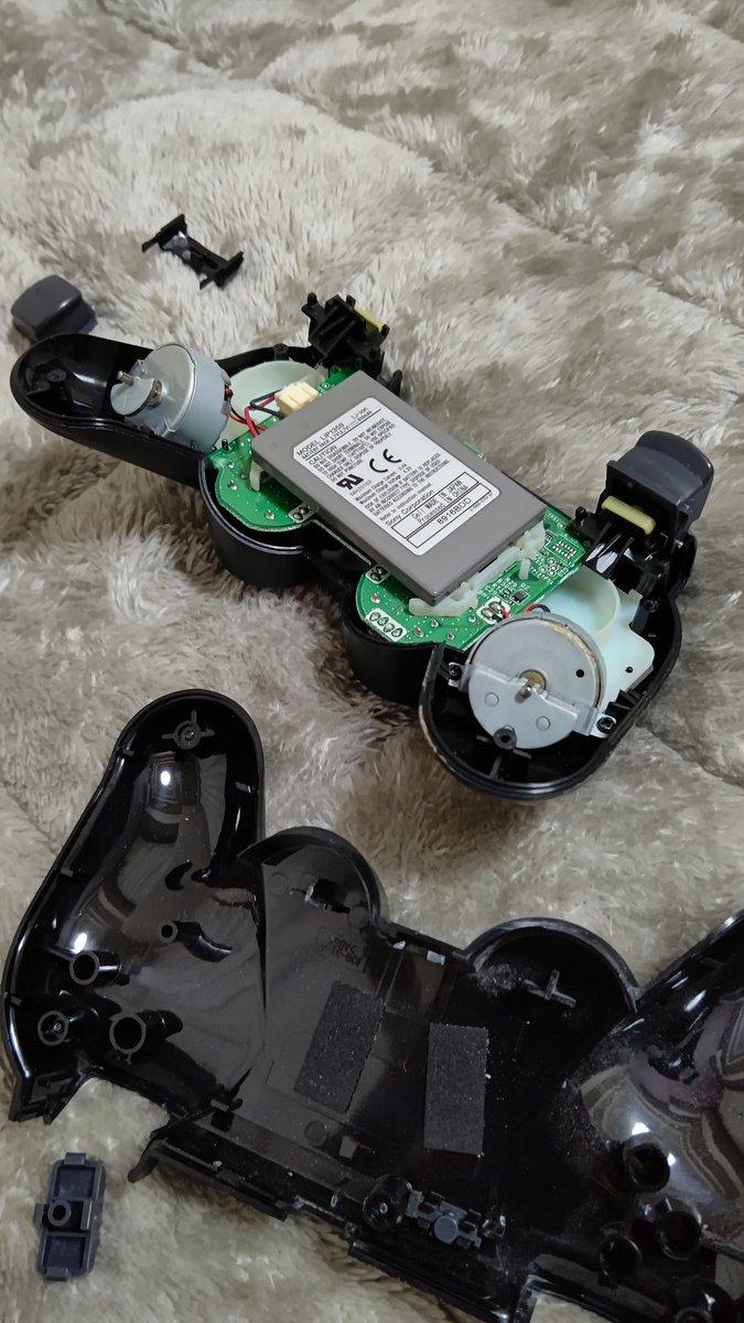 PS3(💦)のコントローラが調子悪かったから、分解して掃除しようとしたら、二度と元にもどらなくなった。ありがとう、さようなら。