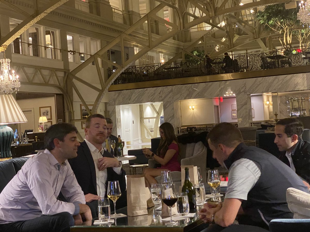 I guess MI House Speaker @LeeChatfield + @RepJimLillyMI were in a celebratory mood last night, drinking Dom Perignon at the Trump Hotel til midnight 🥂 https://t.co/s7FDpDdshm
