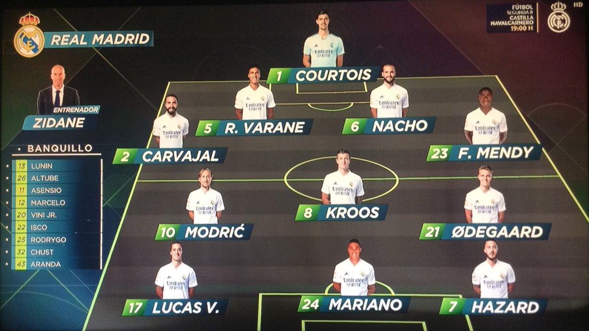 Nuestro XI Titular , Hala Madrid Y Nada Más! @realmadrid #RMLiga #VillarrealRealMadrid  #RMFans #Realfootball #HalaMadrid⚽️