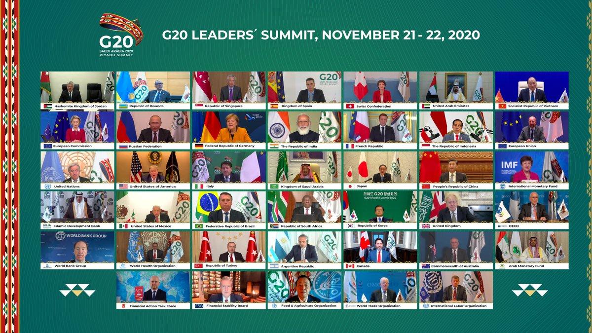 الصورة الجماعية لقادة #مجموعة_العشرين في قمة الرياض. #G20RiyadhSummit