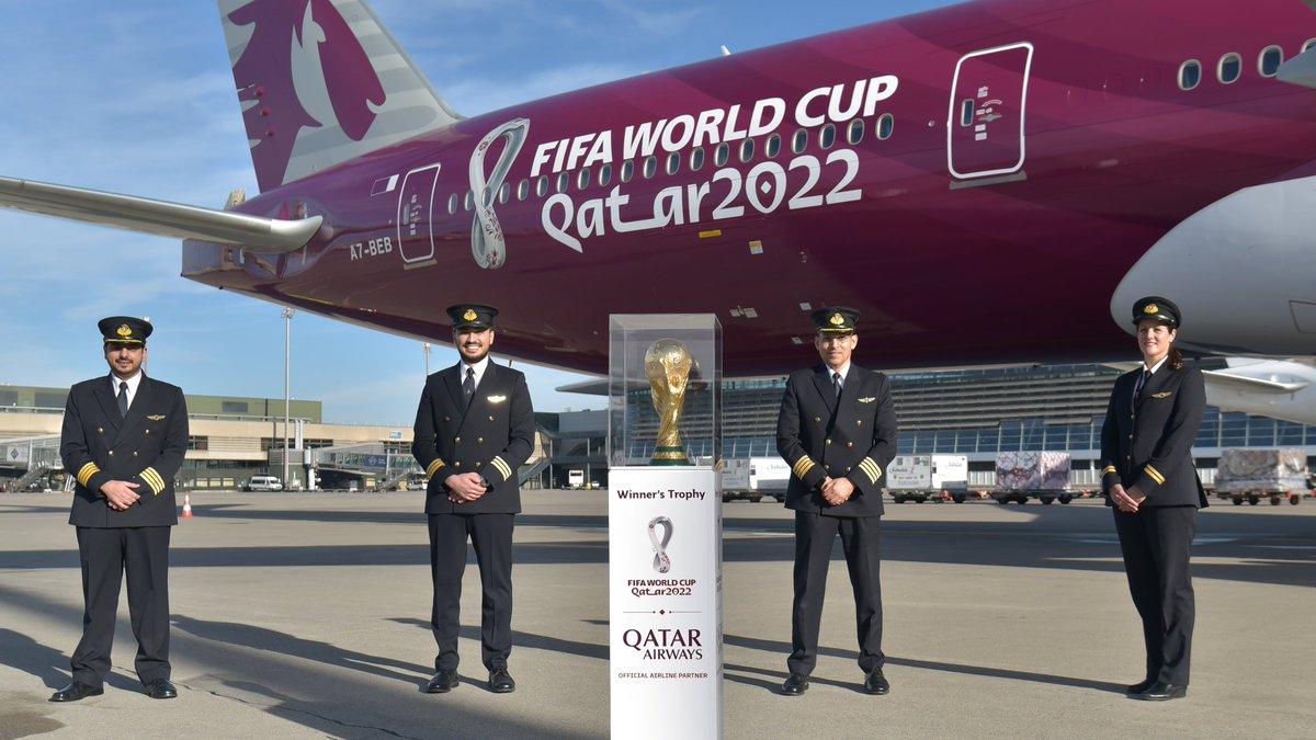 Replying to @qatarairways: Game on football fans! ⚽️🏆🛫  #2YearsToGo #QatarAirways #Qatar2022