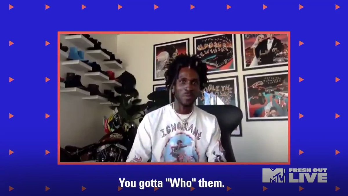 """.@SAINtJHN joined us on #MTVFreshOut to talk about his new project """"While The World Was Burning,"""" those 🔥 collabs, and much more!"""
